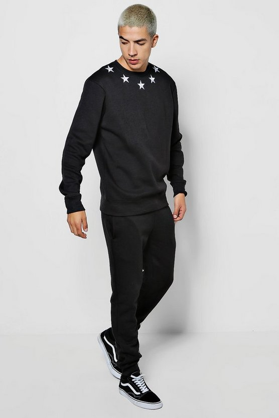 Star Embroidered Sweat Tracksuit