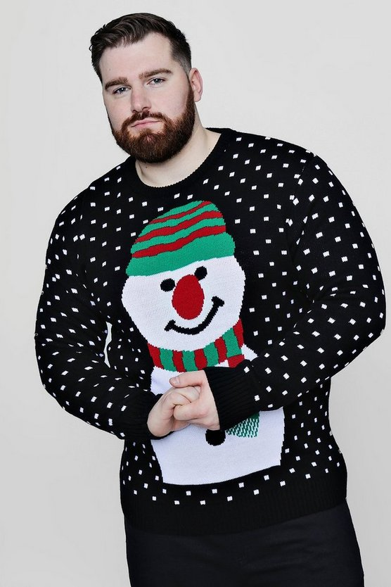 Big And Tall Snowman Christmas Jumper