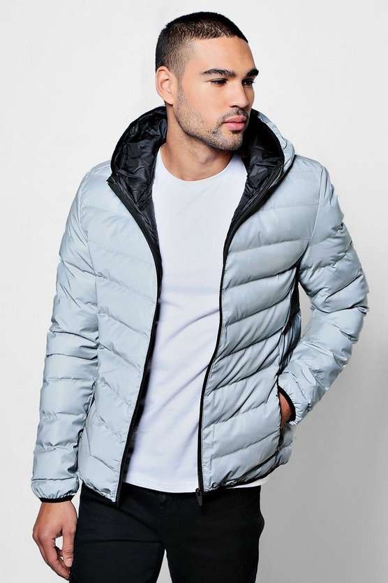 Quilted Zip Through Jacket With Hood