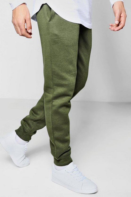Skinny Fit Joggers with Elongated Drawcord