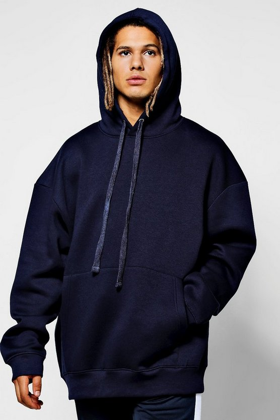 Oversized Hoodie with Elongated Drawcord