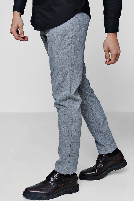 Skinny Fit Textured Trouser