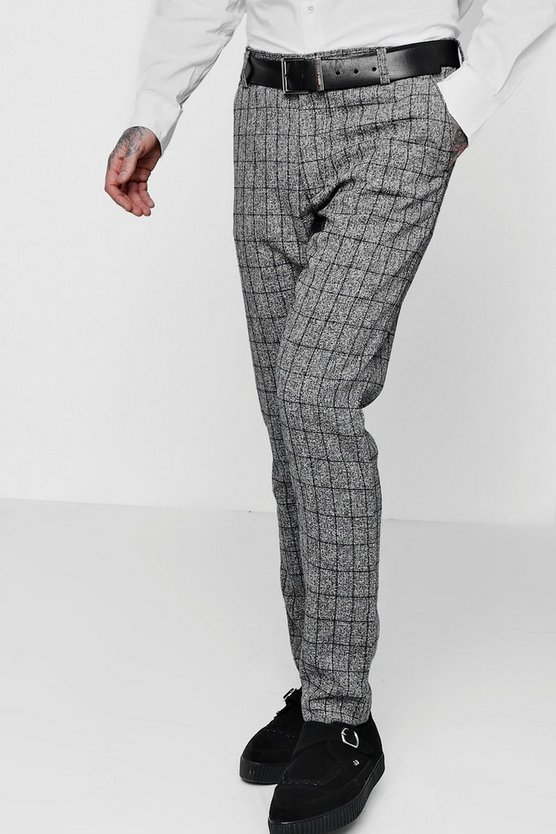 Skinny Fit Grey Check Trouser