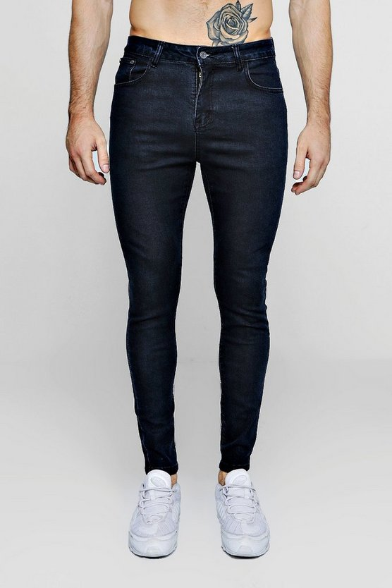 Spray On Skinny Washed Indigo Jeans