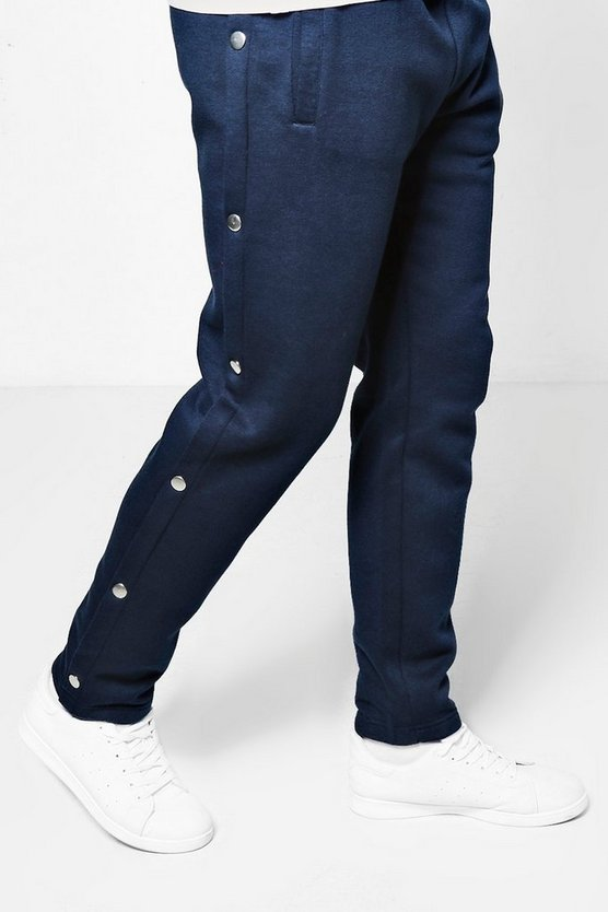 Slim Fit Joggers With Poppers