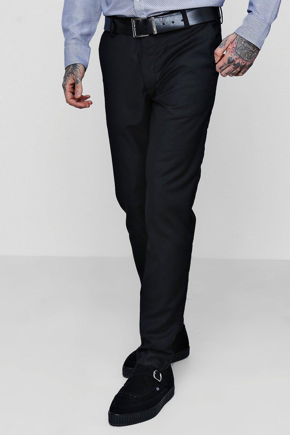 886d48ff2621 Mens Black Skinny Fit Plain Suit Trouser