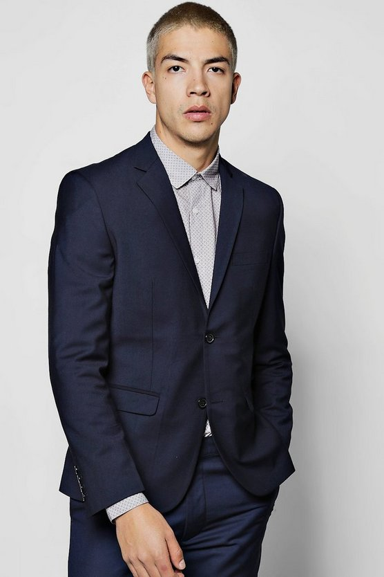 Skinny Fit Plain Suit Jacket