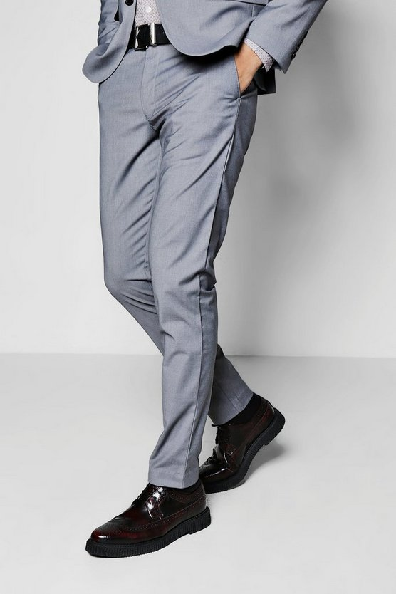 Skinny Fit Plain Suit Trouser