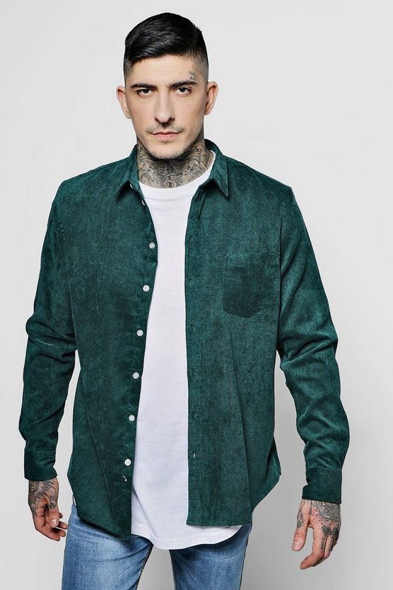 Long Sleeve Needlecord Shirt