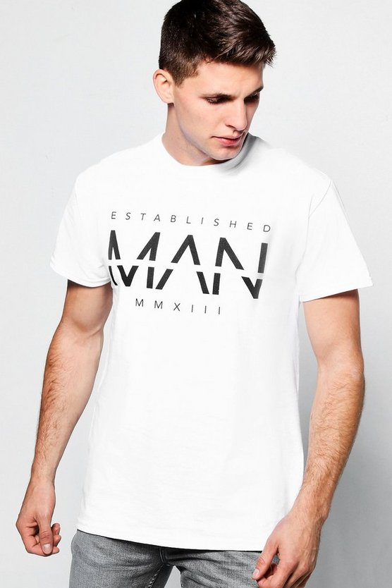 Established Large MAN Print T-Shirt