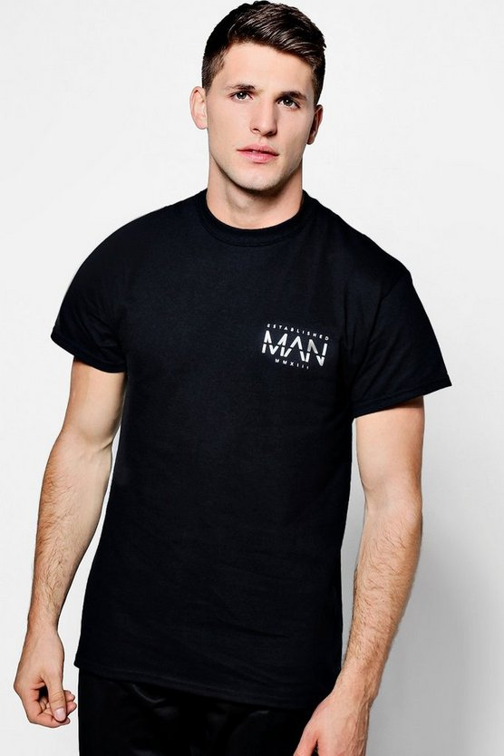 Established MAN Chest Print T-Shirt