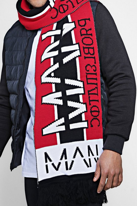 Oversized MAN Football Scarf