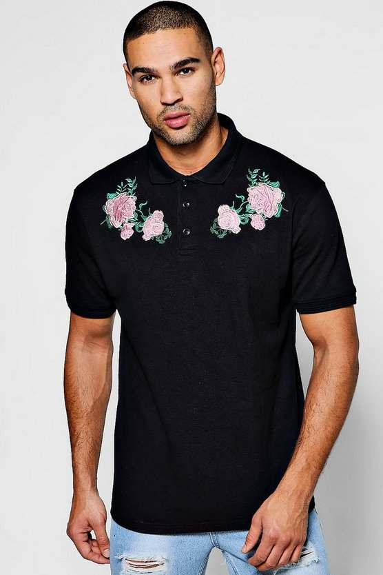 Twin Floral Embroidered Polo