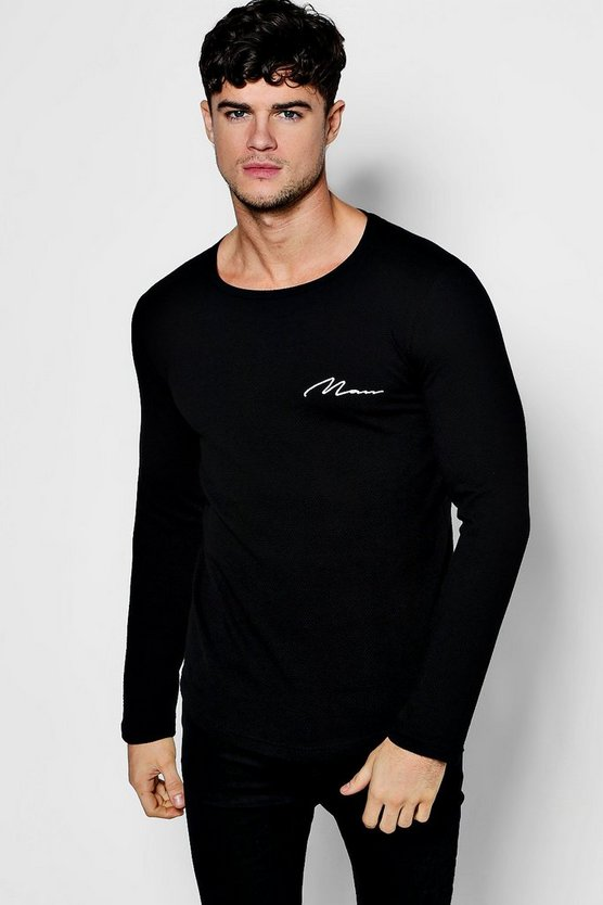 Long Sleeve MAN Textured T-Shirt