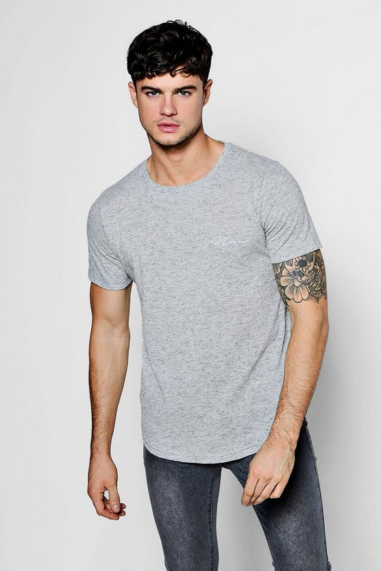 MAN Signature Textured Muscle Fit T-Shirt