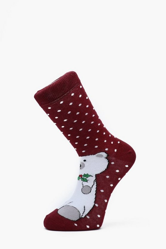 Polar Bear Christmas Socks