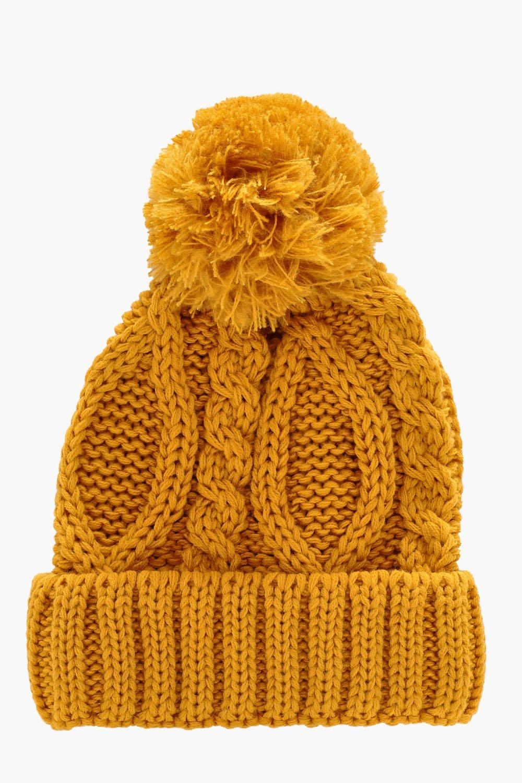 eaa86477072 Pom Pom Cable Knit Beanie