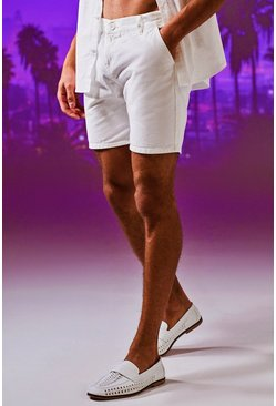 Short chino classique, Blanc, Homme