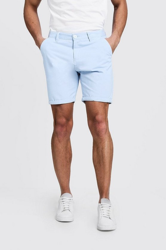 Mens Pale blue Classic Chino Short