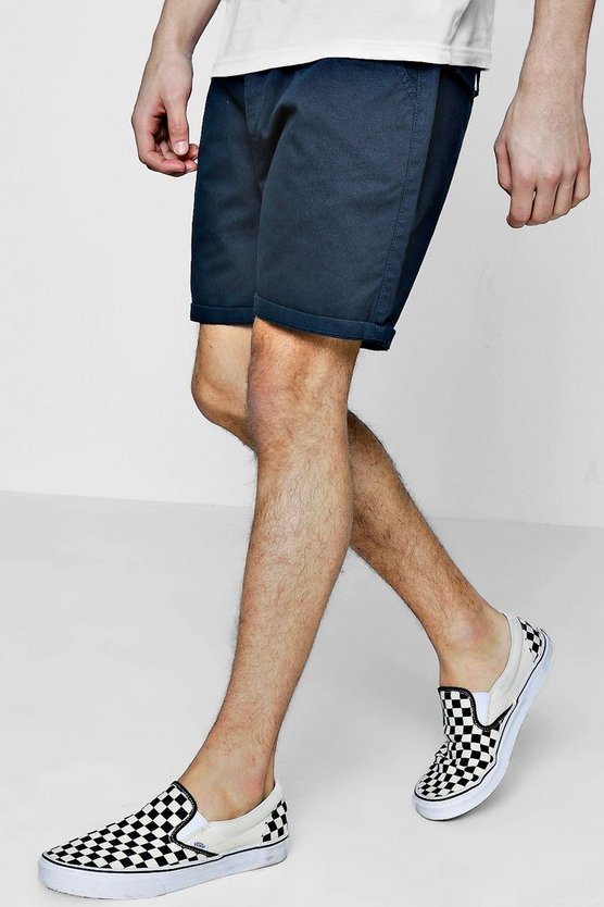 Mens Navy Classic Chino Short