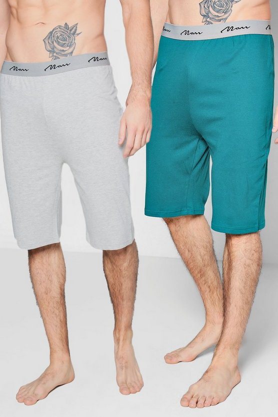 2 Pack Jersey Pyjama MAN Shorts
