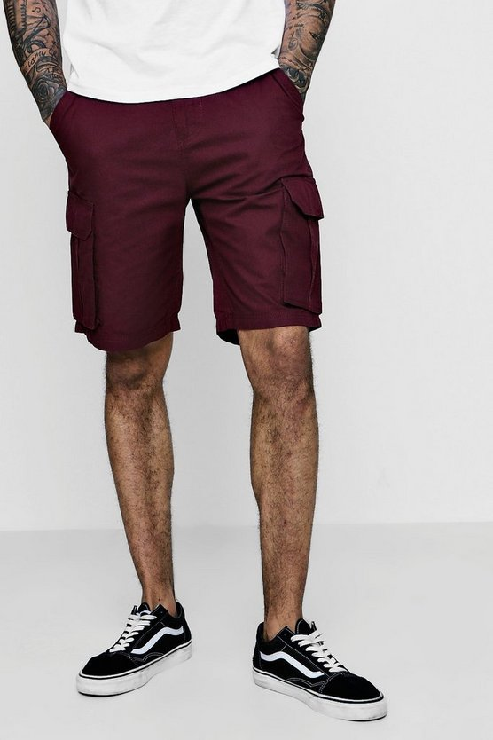 Burgundy Cargo Cotton Short