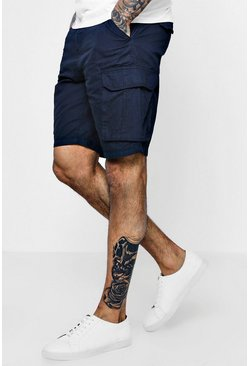 Cargo Cotton Short, Navy, Uomo