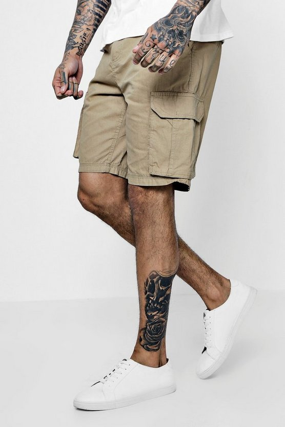 Mens Stone Cargo Cotton Short