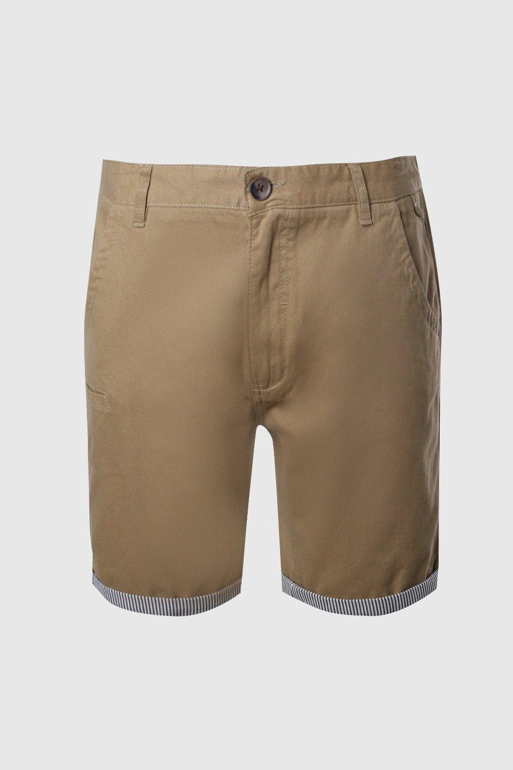 Stripe Turn stone Chino Shorts Up With EnwqCn60xa
