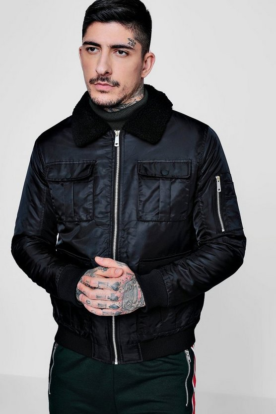 4 Pocket Borg Collar Harrington Jacket