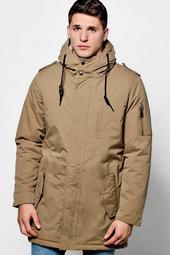 Borg Lined Hooded Mac