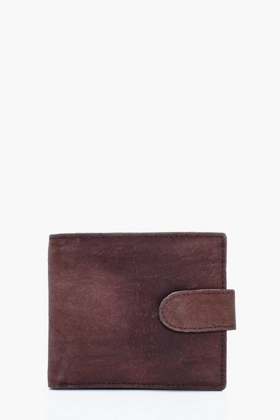 Genuine Leather Bifold Tab Wallet