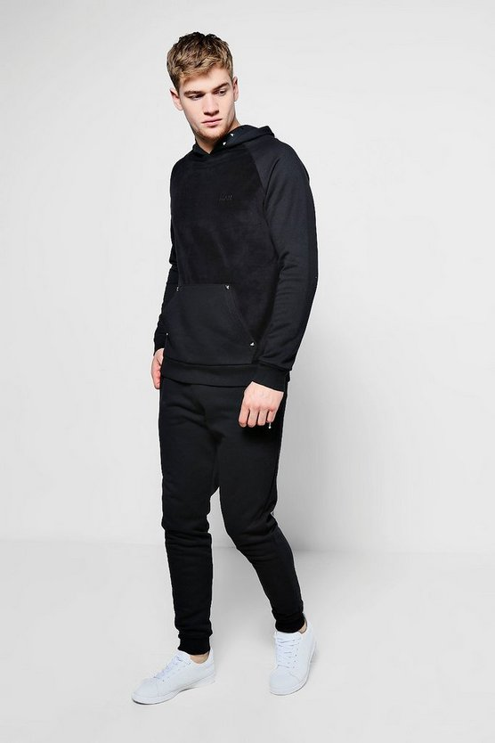 Skinny Fit Velour MAN Tracksuit