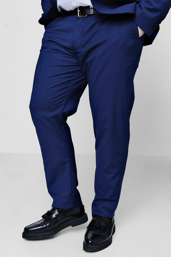 Big And Tall Skinny Fit Suit Trousers