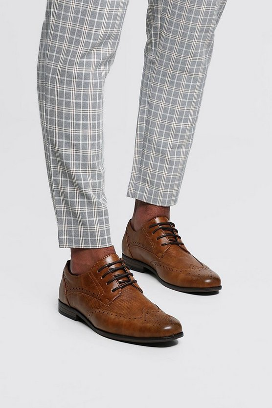 Mens Tan Tan Wingcap Brogue