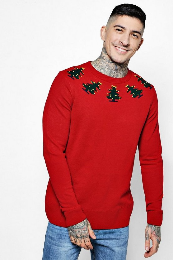 Christmas Tree Border Jumper