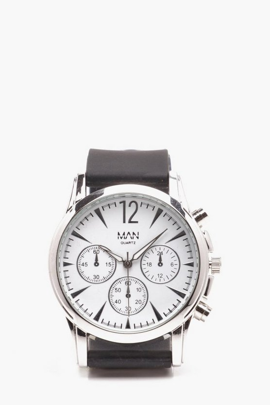 Mens White Smart Multi Face Watch