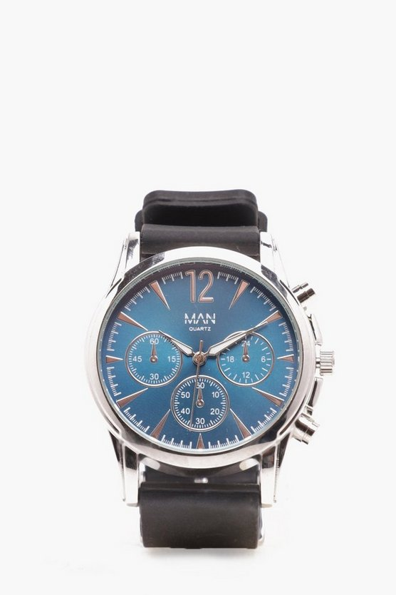 Mens Navy Smart Multi Face Watch