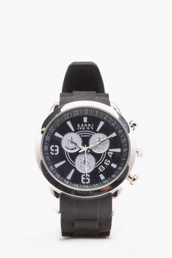 Mens Black Sports Watch