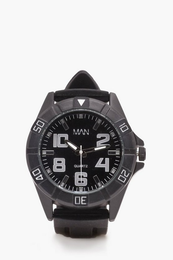 White Detail Sports Watch