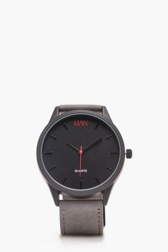Grey Strap Watch