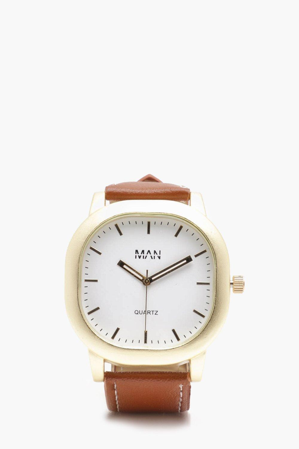 White Square Face Watch