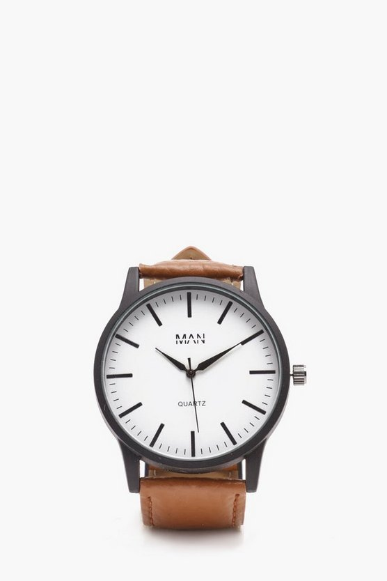 Tan Strap Watch