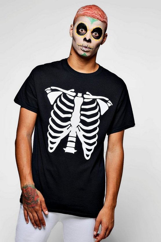 Halloween Skeleton Print T-Shirt