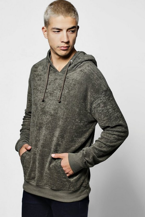 Over The Head Towelling Hoodie