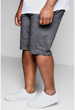 Mens Charcoal Big And Tall MAN Jersey Basket Ball Shorts