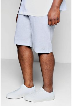 Big And Tall MAN Basketball-Shorts aus Jersey, Grau