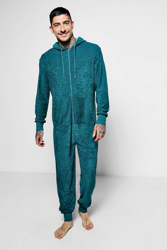 Teal Towelling Lounge Onesie