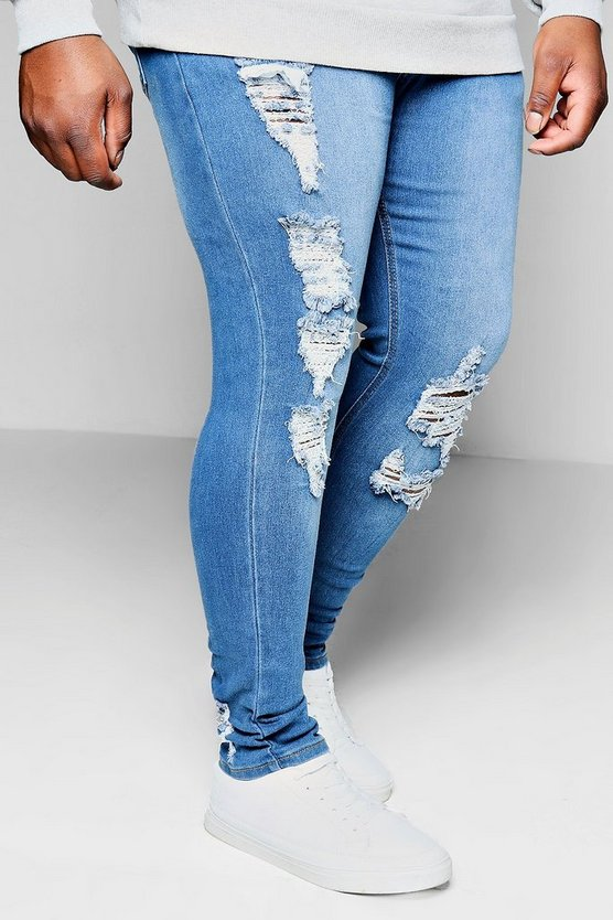 Big And Tall Distressed Detail Skinny Jean