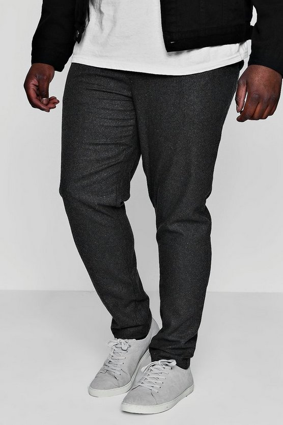 Big And Tall Draw String Tapered Smart Trouser